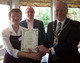 Mayor,Cllr Auld,Carole Wells & Joe Ellis