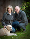 Julie and Peter Maxted with Lucy the lab
