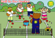 A still from Let's Play Teddy Tennis