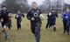 Mark Cueto at police coaching session