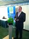 Simon Fowler with the Green Apple Award