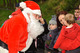 father christmas greeting children