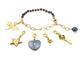 black pearl charm bracelet
