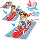 The NEW Britpop surf towel by Ollypop