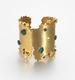 Gold and emerald cuff, Ornella Iannuzzi