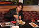 Ali Zafar enjoying his meal at Chak 89