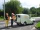 Steve & Sue Fudge unload Morris Minor
