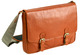 toffee messenger satchel - tan leather