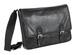 toffee messenger satchel - black leather