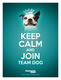 Keep Calm and Join Team Dog poster