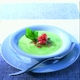 Green Pea Soup with Crayfish Tails