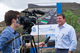 Mark Blundell being interviewed