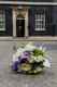 Lonely Bouquet outside no. 10