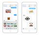 Britmoji stickers in action on iMessage