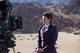Michelle Gomez being filmed in Tenerife