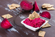 NYBC homemade beetroot hummus