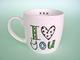 Her very own 'I love you' mug