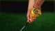 Gold golf glove