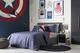 Captain America inspired bedroom